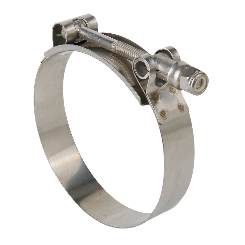 300 SS T-Bolt Hose Clamps Partial In Zinc-plated Carbon Steel